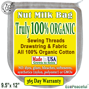 Features Of Our 100 Organic Nut Milk Bag