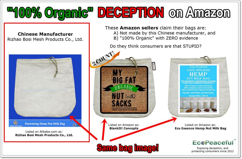 EXPOSED! Fake Organic Hemp Nut Milk Bags Sold on Amazon!