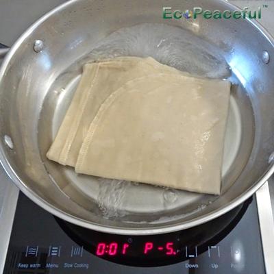 Sanitizing Organic Cotton Nut Milk Bag